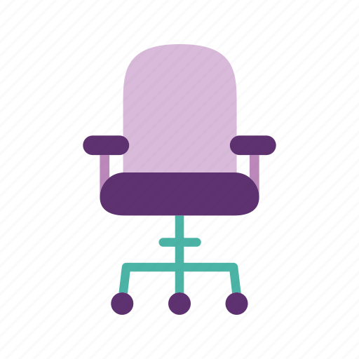 chair, computer, desk chair, furniture, home, interior, swivel icon