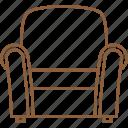 armchair, bench, chair, elbow chair, recliner, rocker, sofa icon