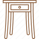 counter, desk, furniture, side table, stand, table, worktable icon