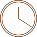 analogue, clock, roundclock, time, timekeeper, timepiece, timer icon