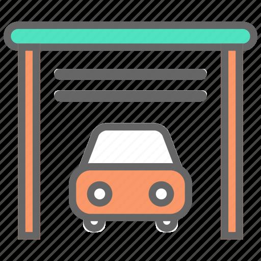car, garage, parking, vehicle icon