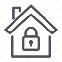 home, house, security icon