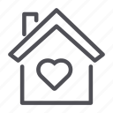 family, house, love icon