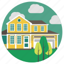 bungalow, estate, home, house, lifestyle, real estate, villa icon