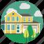 bungalow, estate, home, house, lifestyle, real estate, villa icon