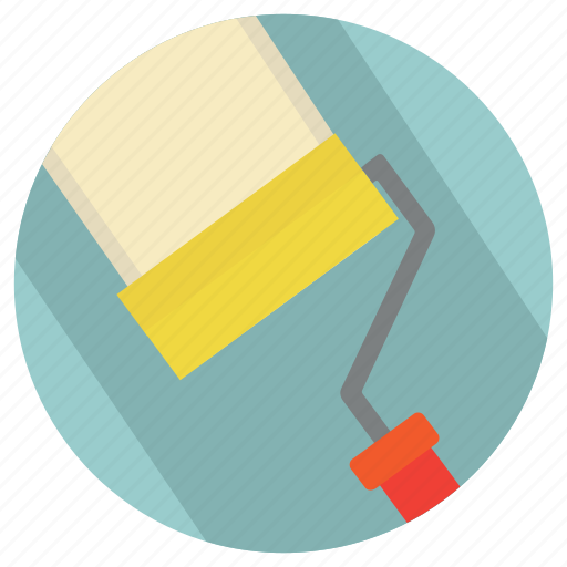 brush, home, lifestyle, paint, painting, renovation, roller icon