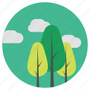 backyard, garden, home, lifestyle, nature, park, tree icon