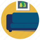 couch, furniture, guest room, home, lifestyle, living room, sofa icon