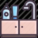 furniture, interior, kitchen, sink icon