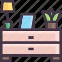 furniture, interior, small, table, wardrobe icon