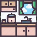 furniture, interior, kitchen, wardrobe icon