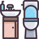 bathroom, furniture, interior icon