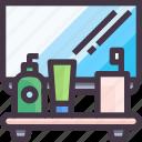 bath room, furniture, interior, mirror icon