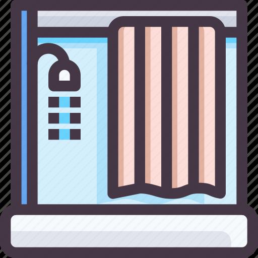 bath room, furniture, interior, shower icon