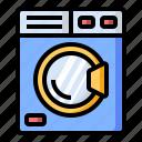 cleaning, electronics, laundry, machine, washing icon