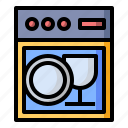 appliance, dish, dishwasher, plate icon