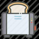 toaster, bread, toast, breakfast