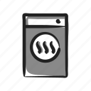 appliance, dryer, drying, laundry, machine icon