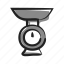 appliance, kitchen, recipe, scale, weight icon