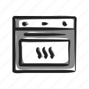 appliance, cook, cooking, electric, oven, recipe, stove icon