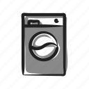 appliance, clothes, laundry, machine, spinner, washer, washing icon
