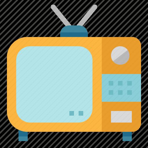 entertainment, screen, television, tv, vintage icon