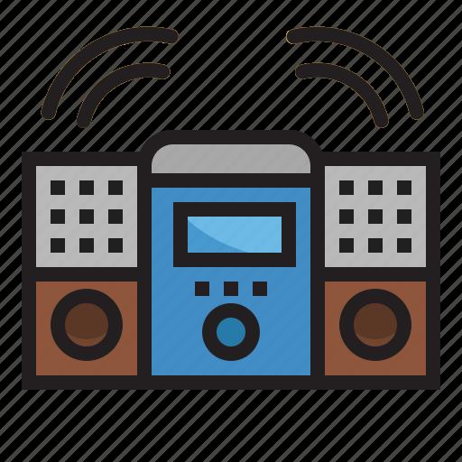 audio, home, music, radio, speakers, theater icon
