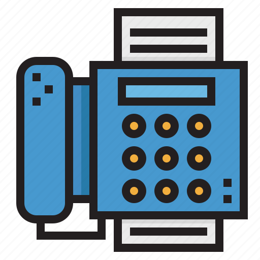 communications, fax, office, phone, telephone icon