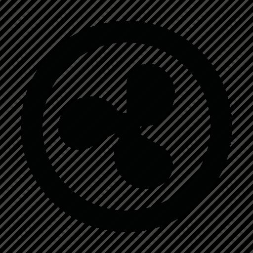 Exhaust Fan Symbol : Blower electronics fan ventilation venting icon