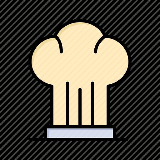 cap, chef, cooker, hat, restaurant icon