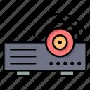machine, presentation, projector, service icon