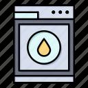 laundry, machine, robbot, washing icon