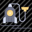 cable, hotel, machine, vacuum icon