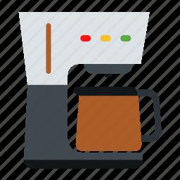 appliance, breakfast, coffee, electrical, kitchen, maker icon