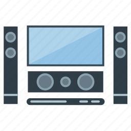 appliance, electrical, home, movie, sound, speaker, theater icon
