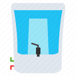 appliance, electrical, kitchen, pure, purifier, water icon