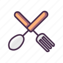 food, fork, kitchen, spoon icon