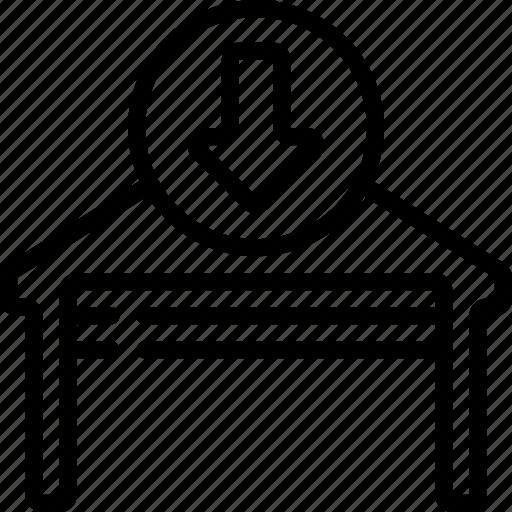 automation, close, door, garage, home icon