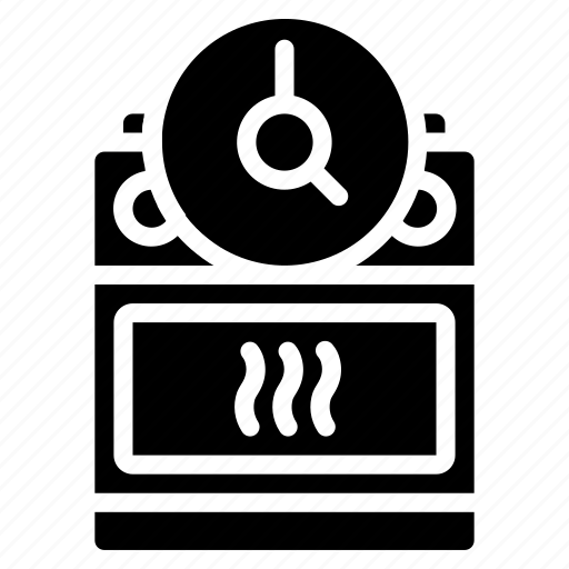 automation, cooker, home, kitchen, oven, solid, timer icon
