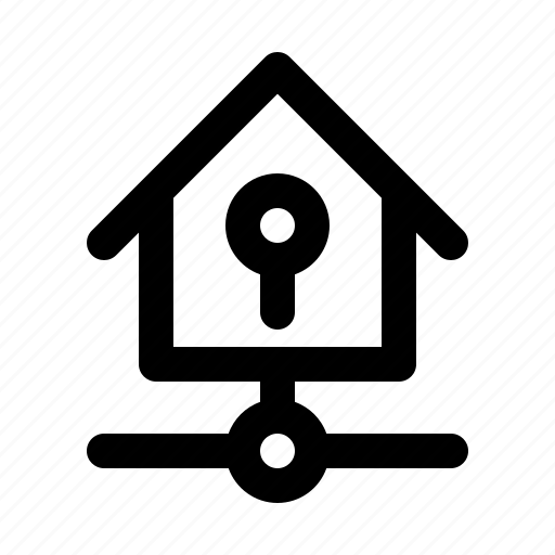 big, home, key, kit, lock, smarthome, technology icon