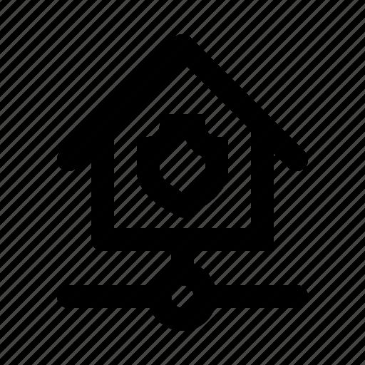 big, home, kit, protect, shield, smarthome, technology icon