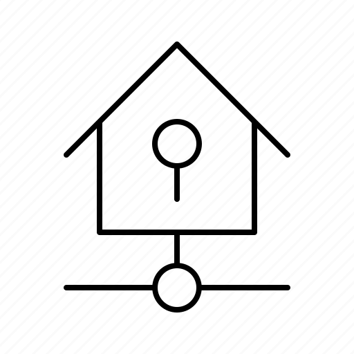 big, home, key, kit, lock, smarthome, technology icon