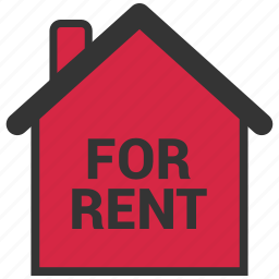for rent, home, house, real estate icon