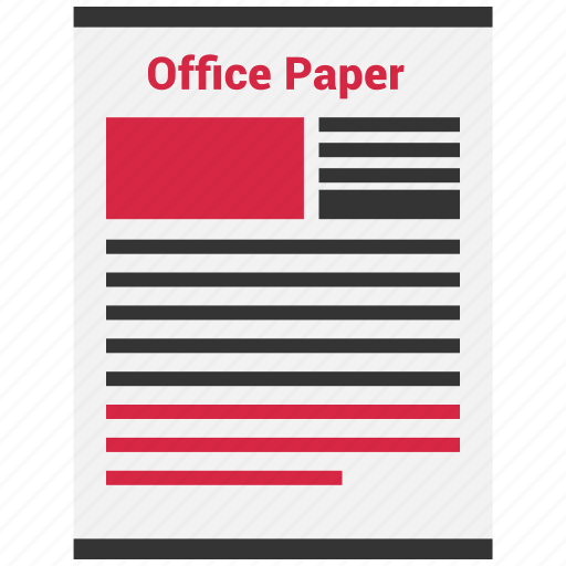 document, file, office, page, paper, paragraph icon