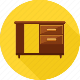 almirah, cabinet, cupboard, drawers, furniture, storage icon