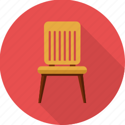 chair, furnishings, furniture, home, households, seat icon