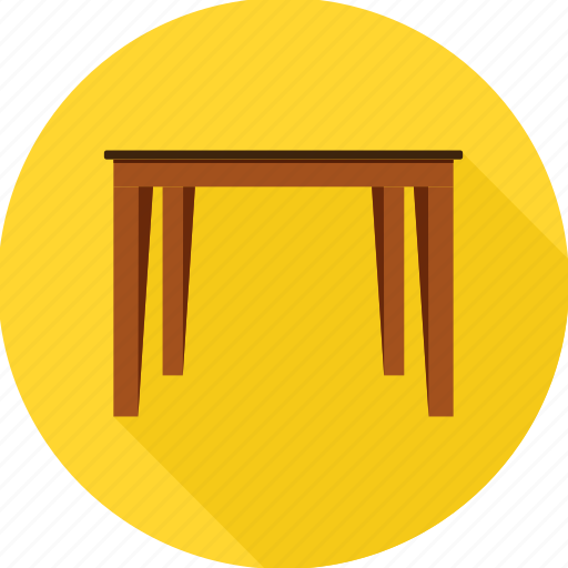 desk, furnishings, furniture, interior, office, table icon