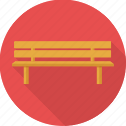 bench, design, furniture, park, rest bench, seat, wooden bench icon