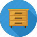 cabinet, drawer, drawers, furniture, home, storage icon