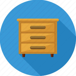 cabinet, drawer, drawers, furniture, home, storage icon